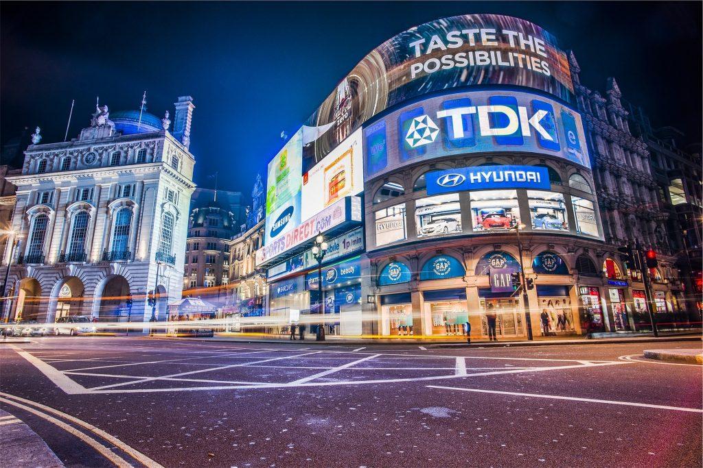 digital led signage city